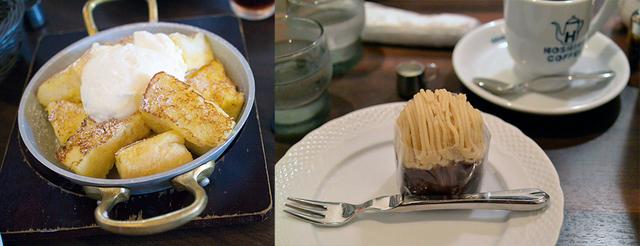 フレンチトーストとモンブラン