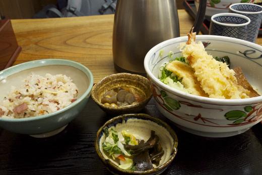竹の子ごはんの定食